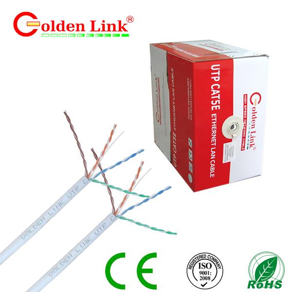 Dây cáp mạng Golden Link - 4 pair (UTP Cat 5e) màu trắng