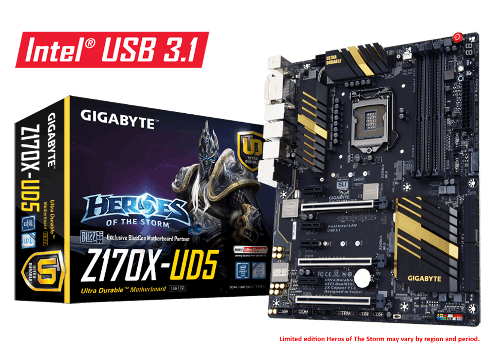 Main Gigabyte GA-Z170X-UD5, Socket 1151 (GA-Z170X-UD5)