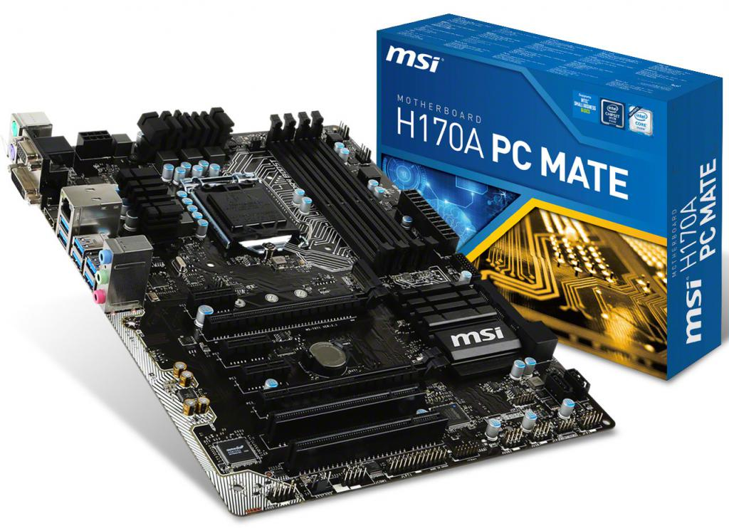 Mainboard MSI H170A PC MATE Socket 1151 (H170A PC MATE)