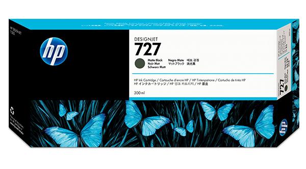 Mực in HP 727 300-ml Matte Black Designjet Ink Cartridge (C1Q12A)