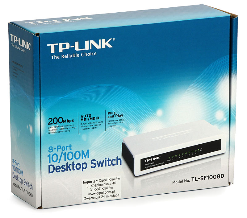 Switch TP-Link TL-SF1008D,  8 cổng 10/100Mbps