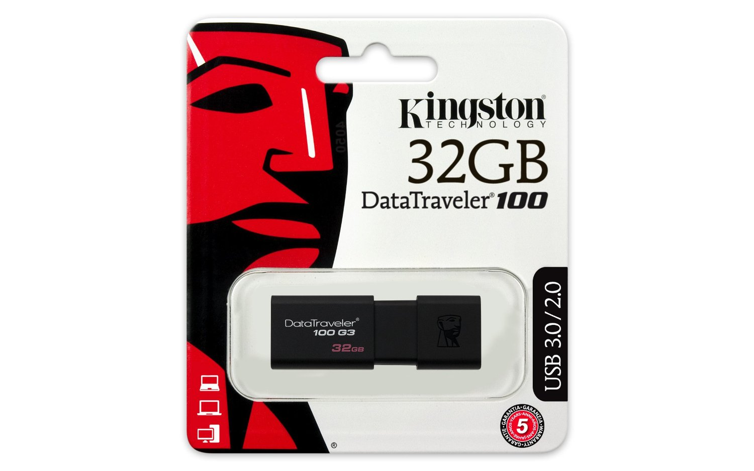 USB 32GB Kington DataTraveler 100 G3 (DT100G3/32)