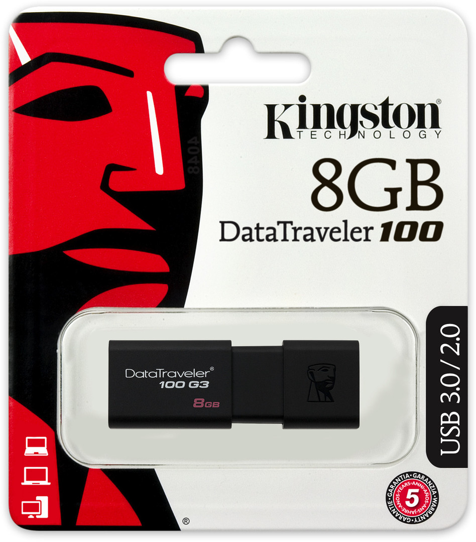 USB 8GB Kingston DataTraveler 100 G3 (DT100G3/8GB)
