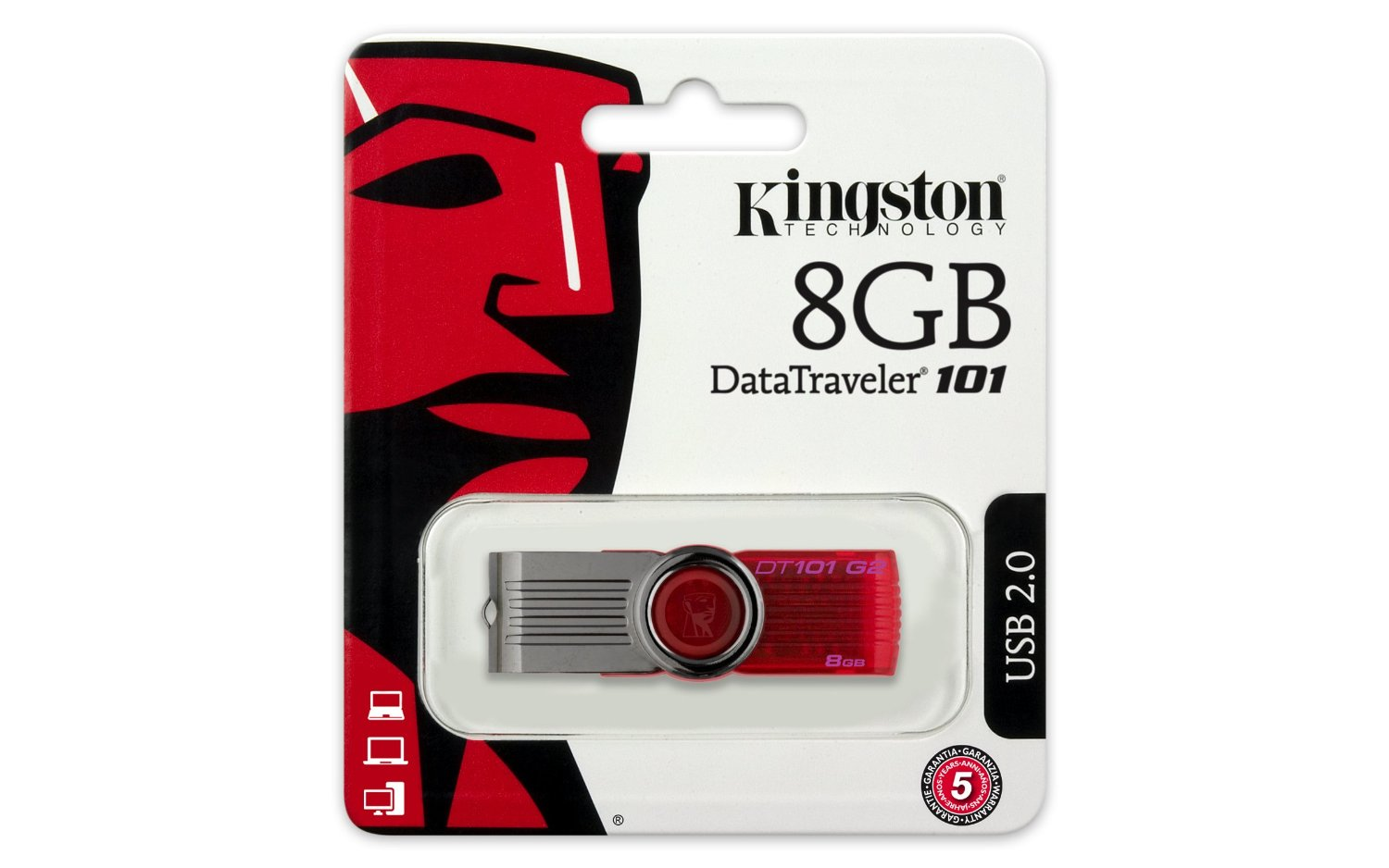 USB 8GB Kingston DataTraveler 101 Generation 2 (DT101G2/8GB)